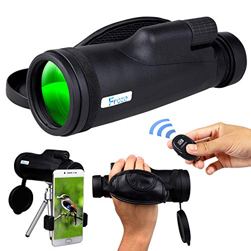 Monocular Telescope for Smartphone, HD 12×50 Zoom Compact Handheld Monoscope, High Power BAK4 Prism Monocular Scope with Tripod, Cell Phone Adapter Mount Holder, Monoculars for Adults & Bird Watching