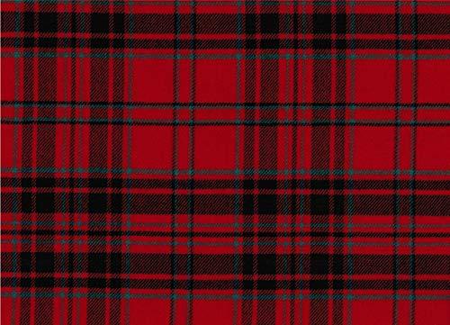 MacGillivray Modern Tartan Fabric 100% Pure Wool Made in Scotland 10oz Lightweight Cloth