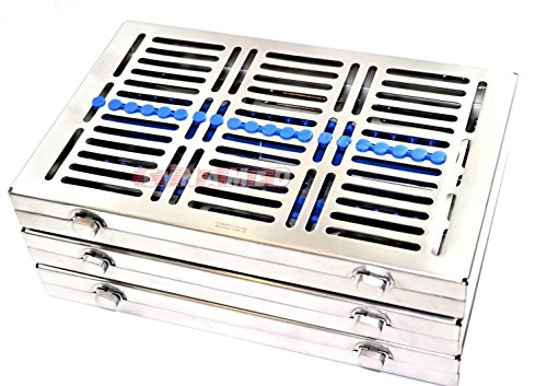 3 GERMAN DENTAL SURGICAL AUTOCLAVE STERILIZATION CASSETTES FOR 20 INSTRUMENTS BLUE ( CYNAMED ) by CYNAMED (Image #2)