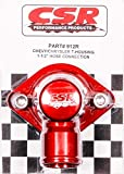 CSR Performance Products 912R Red Anodized Swivel Style Thermostat Housing for GM and Mopar Engine using 1-1/2'' Hose