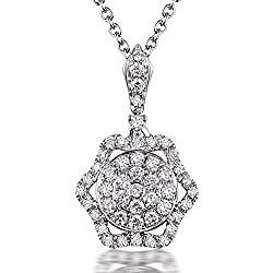 White Yellow Gold Diamond Pendant