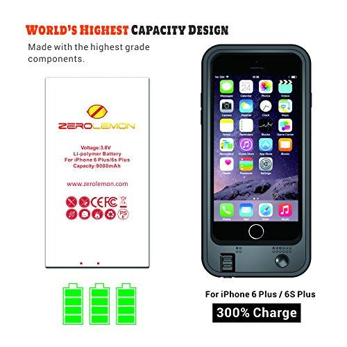 cheaper 1d4f9 a505f on sale iPhone 6 Plus/6s Plus Battery Case, ZeroLemon 9000mAh ...