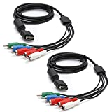 TRADERPLUS 2 Pack High Resolution HDTV Component RCA AV Audio Video Cable for PS3 & PS2 Playstation