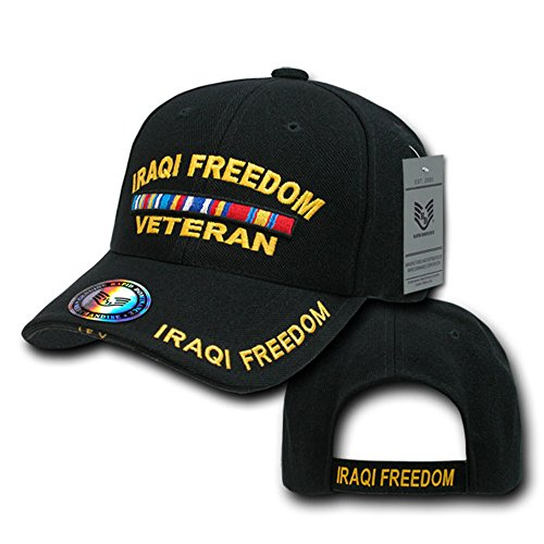 Rapid Dominance Iraqi Freedom Veteran 3D Deluxe Embroidered Military Baseball Cap - ()