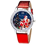 GBSELL Fashion Women Men Christmas Gifts Watch Candy Color Silicone Strap Wrist Watch,Red