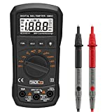 Tacklife DM03 Classic Digital Multimeter 2000 Counts Auto Ranging Multi Meter Electronic Measure Instrument DC/ AC Voltage & Current Detector Portable Continuity Test