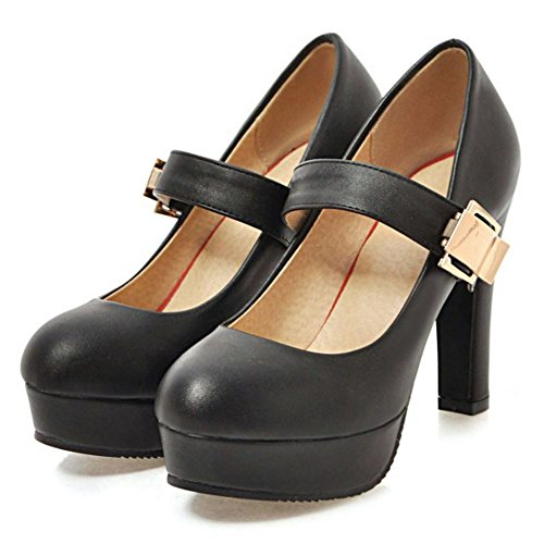 Mujer Zanpa Top Mary Janes Low Mode Black Zapatos vggaxqHdn