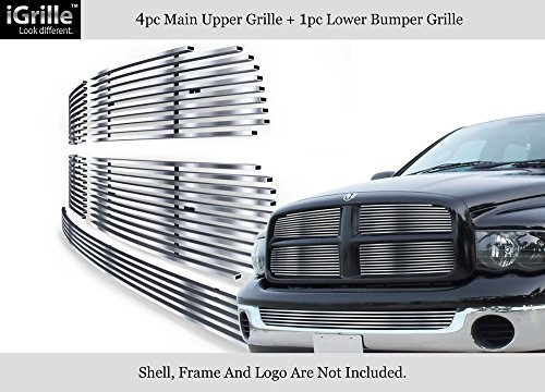 APS 304 Stainless Steel Billet Grille Combo Fits 02-05 Dodge Ram ()