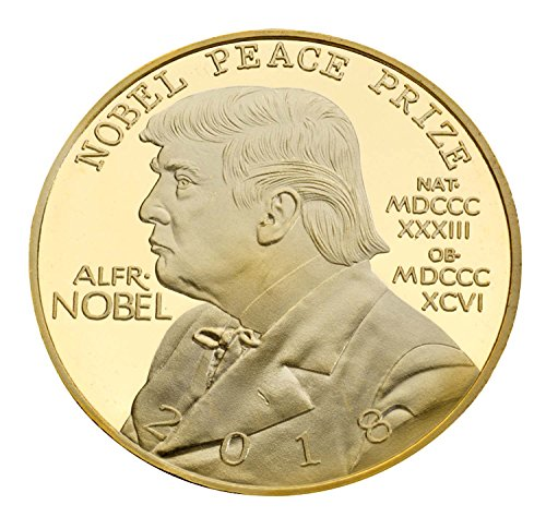 24k Commemorative Coin - Donald Trump Nobel Peace Prize Coin 2018-24K Gold Plated Commemorative Collectors Edition. Stunning Proof Coin in Acrylic Capsule and Presentation Box.