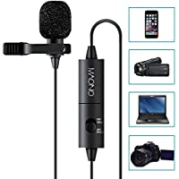 MAONO Lavalier Microphone, Hands Free Clip-on Lapel Mic...