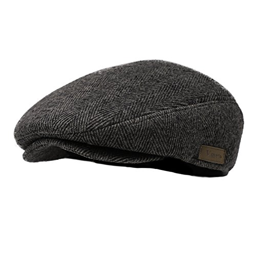Vmevo Men's Flat IVY Gatsby newsboy Cap Warm Winter Driving Hunting duckbill Hat (Brown Driving Cap)
