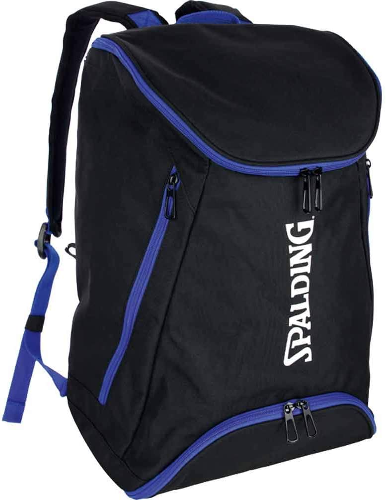 Spalding, mochila de baloncesto, color azul real y negro con red ...