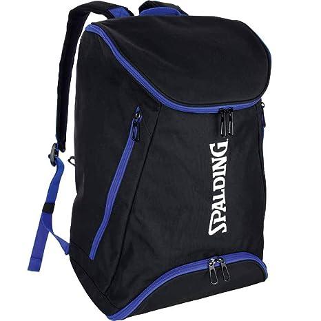 Spalding, mochila de baloncesto, color azul real y negro con ...