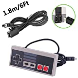 NES Classic Controller with 6 FT Extra Long Extension CABLE CORD for Mini Edition Gamepad