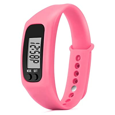 Exécuter étape montre/bracelet, Y56podomètre Fitness Band tracker d'activité pour enfants/femme/homme (temps/étape podomètre/compteur de calories/Digital LCD/Distance de marche)