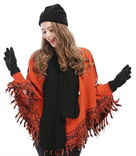3 Piece Fleece Hat, Scarf & Glove Women's Winter Set, (Hat And Gloves Set)