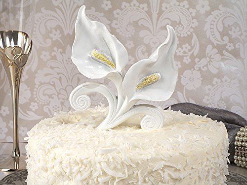 FavorOnline Classic Calla Lily Cake Topper Wedding Set -