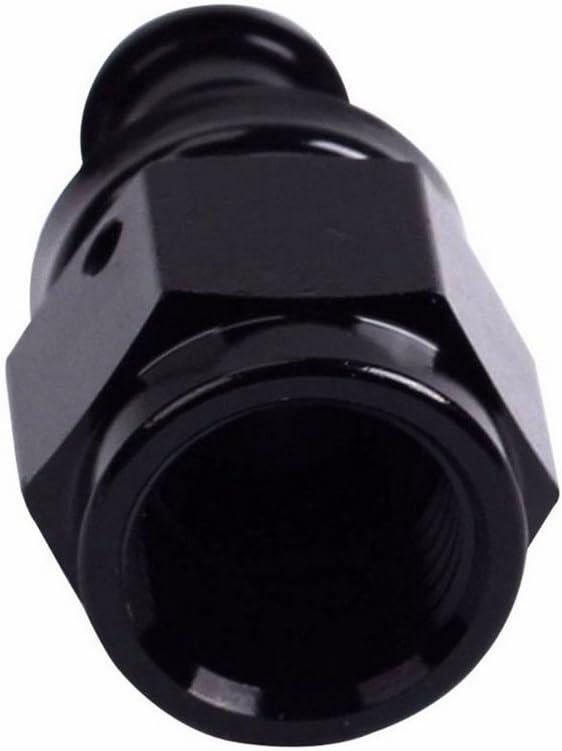 SUNRODA Universal AN4 4AN Straight Push Lock Swivel Hose End Fitting Black