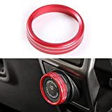 BORUIEN Aluminum Alloy Trailer Switch Ring Cover Frame Trim for Ford F150 XLT 2016 2017(Red)