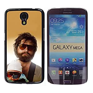 TECHCASE**Cubierta de la caja de protección la piel dura para el ** Samsung Galaxy Mega 6.3 I9200 SGH-i527 ** Family Portrait Child Man Beard Sunglasses