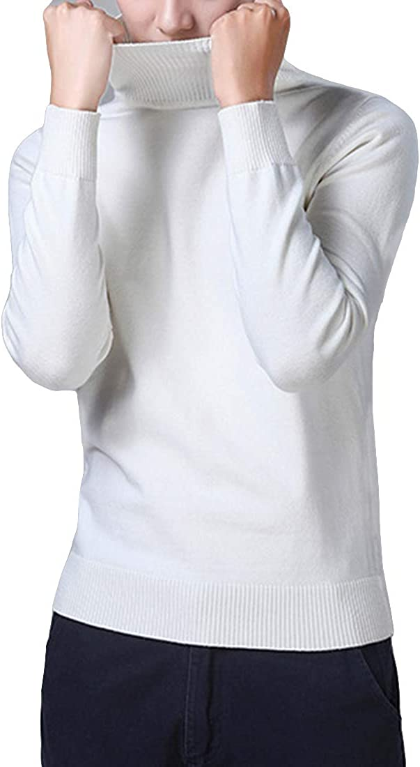 Nidicus Men Ultra Soft Knitted Turtleneck Sweater 100/% Cotton Fit Pullover Flexible