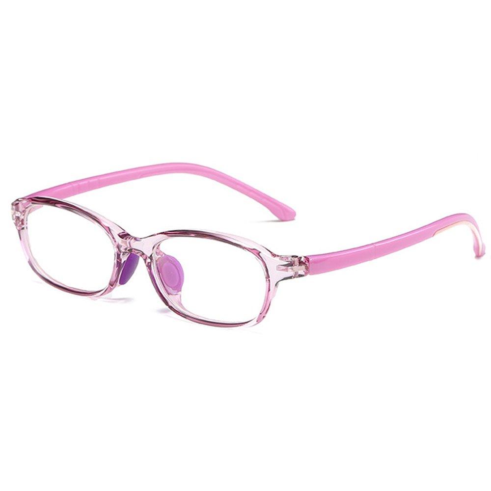 Fantia Children Glasses Frame for Girls Ultra-Light Kids Decorative Eyeglasses (D)
