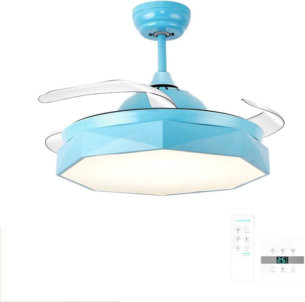 Ventilador de techo ZHAOSHUNLI con luz Macaron Invisible Luz ...