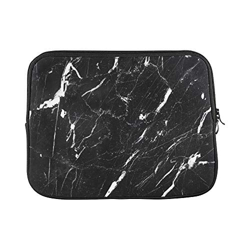 Apple 505 (Design Custom Abstract Natural Marble Black White Black Sleeve Soft Laptop Case Bag Pouch Skin for MacBook Air 11