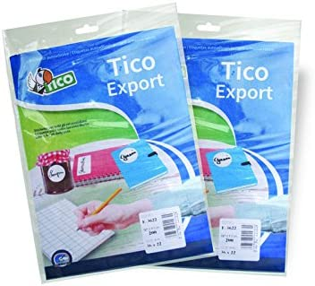 color blanco Tico 947906 Pack de 10 hojas de etiquetas adhesivas