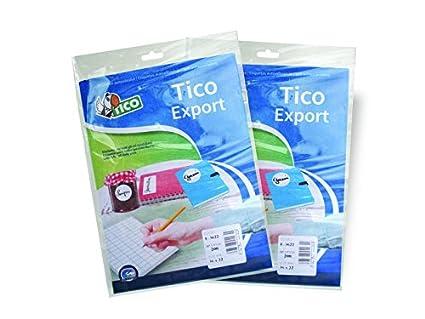 Pack de 10 hojas de etiquetas adhesivas Tico 947905 color blanco
