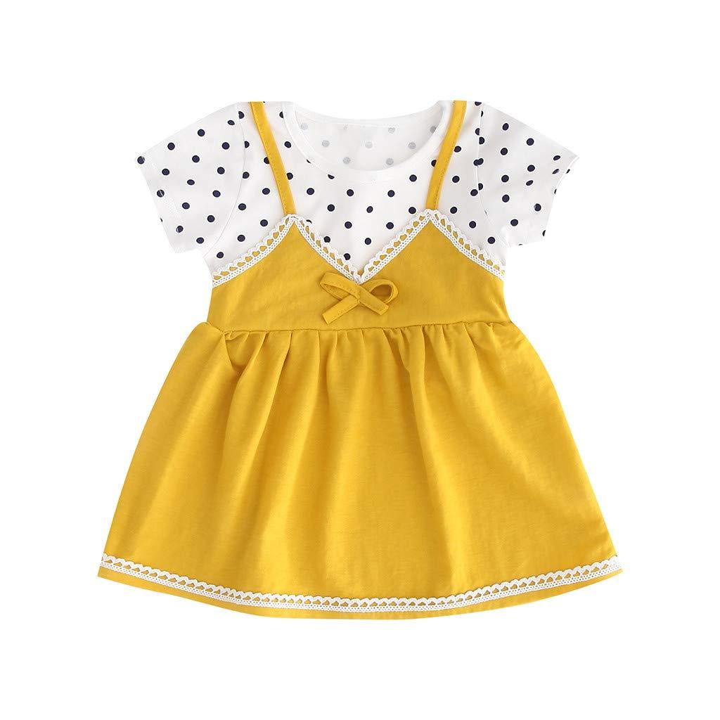 Ruffle Dress Girls,Toddler Kid Baby Girl Sleeveless Solid Flower Princess Romper Dress Clothing,Kids' Costume Accessories,White,12-20M