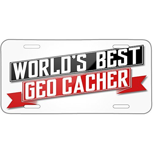 Worlds Best Geo Cacher Metal License Plate 6X12 Inch (Bmw E60 German)