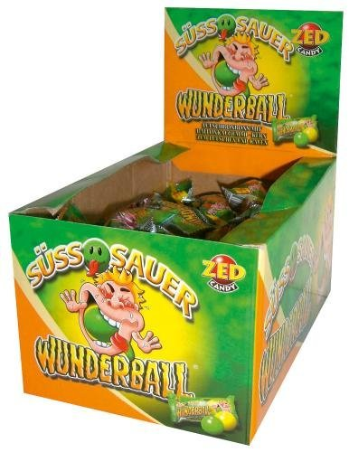 (Zed Candy miracle ball sweet and sour sweet gum 50 Pieces)