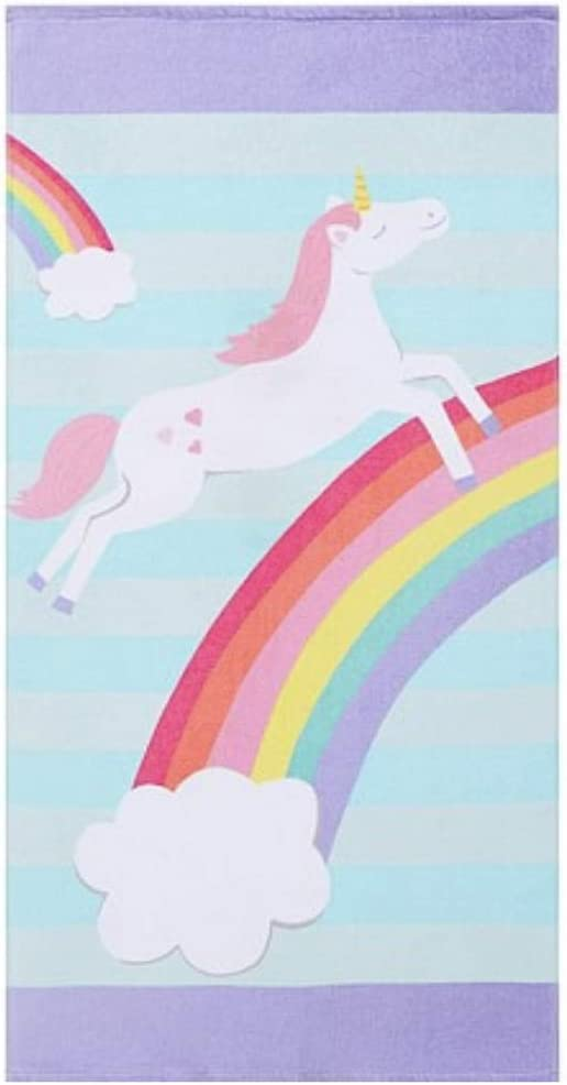 CheeseandU Thick Soft Pool Beach Towel Cute Rainbow Unicorn Large Microfiber Terry Blanket Picnic Carpet Yoga Mat Boho Tablecloth for Women Girls 60""