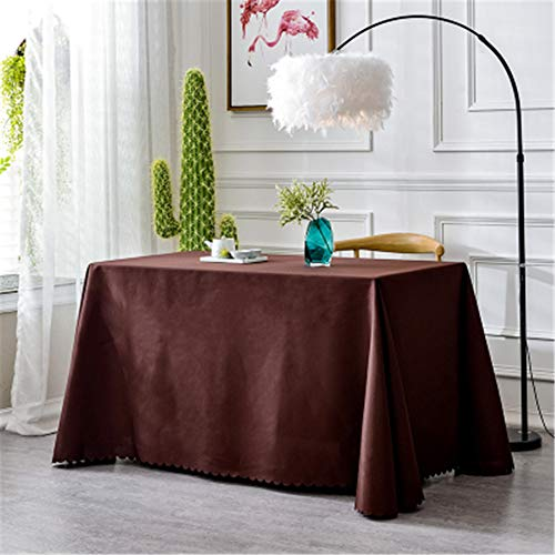 (Thickened Hotel Restaurant Round Table Tablecloth Restaurant Wedding Event Meeting Rectangular Tablecloth Push Coffee Table Brown 160x240cm)