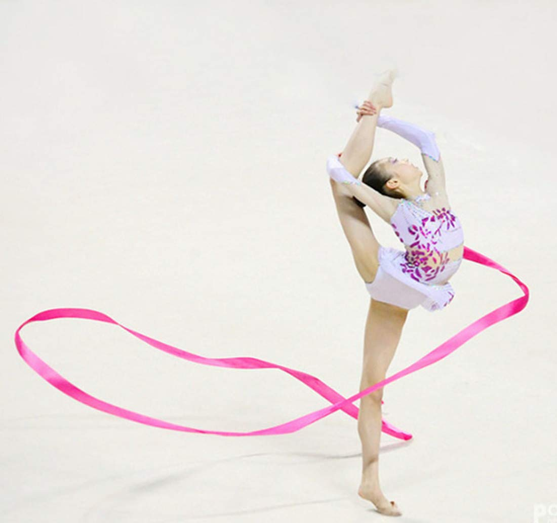 Ruban de Gymnastique Danse Streamer avec cl/é dorchestre dansante pour Enfants Dancing Ruban Jouets MUAI 10/pi/èces 4/Metre Rainbow Danse Ruban de Gymnastique Rythmique Rubans