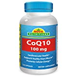 Nova Nutritions CoQ10 Coenzyme q10 100mg 120 Capsules - COQ 10 for Healthy Blood Pressure & Heart