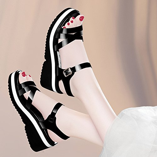 inferior Gun sandalias grueso y Verano UE color damas RUGAI sandalias de nZqR6ZO0C