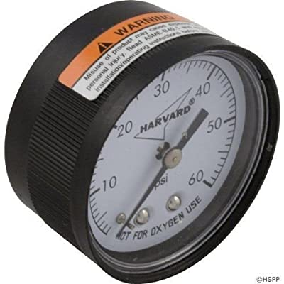 Welironly Harvard Back Mount Pressure Gauge- IPPG602-4B, Product_by: recreationdiscountwholesaleinc; TRYK8252338716204 : Garden & Outdoor