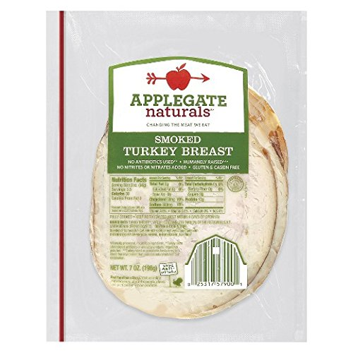 Applegate Naturals Smoked Turkey Breast, 7 Ounce (Pack of 12)