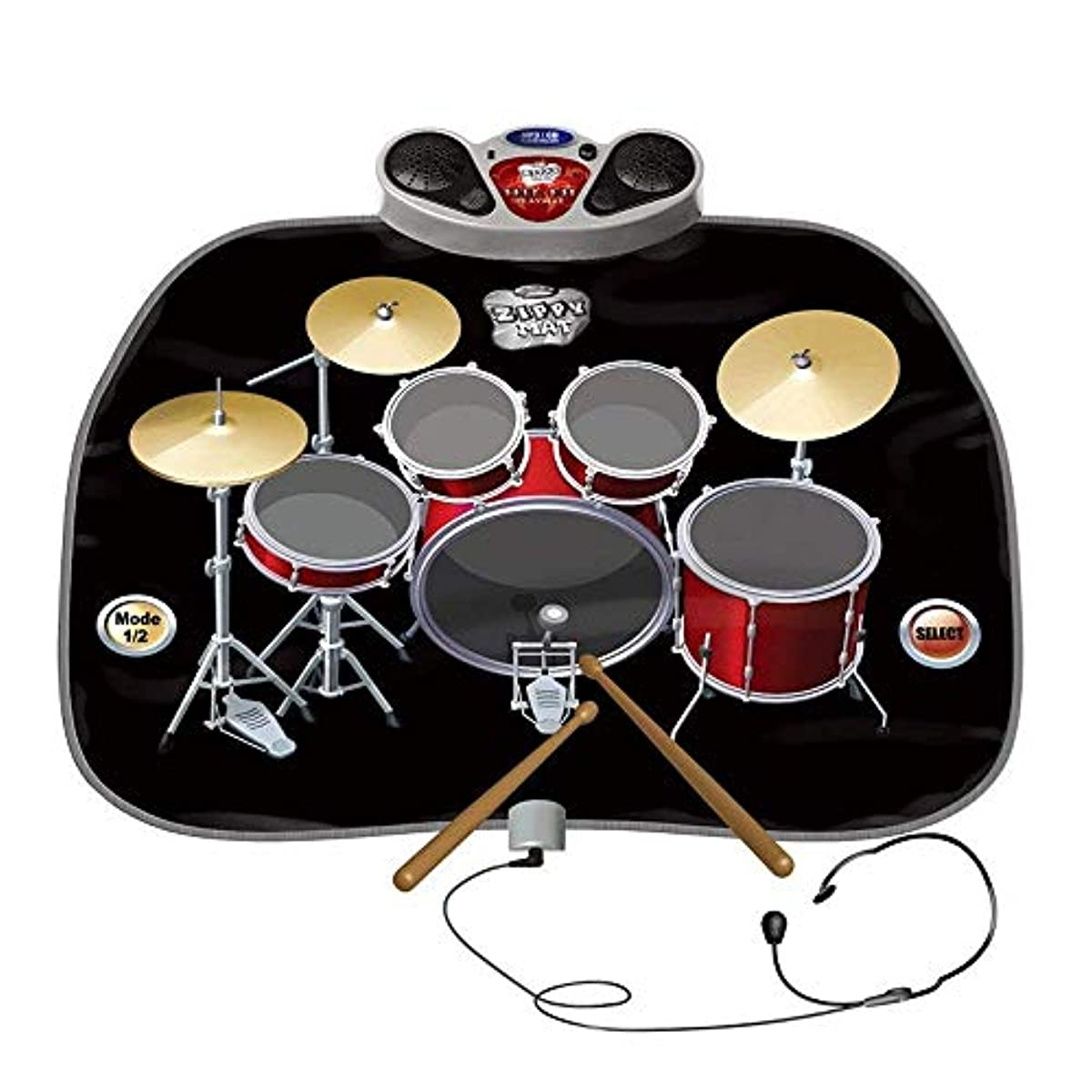 [해외] 전기 뮤지컬 gaming 마우스 패드 장난감 악기 드럼 키트 세트는,마이크 & 드럼 스틱과 헤드폰이 포함되어 있음 마스코공을 위한 MP3/CD 앰프