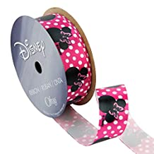 Offray Minnie Mouse Craft Ribbon, 7/8-Inch X 9-Feet, Shocking Pink Dots