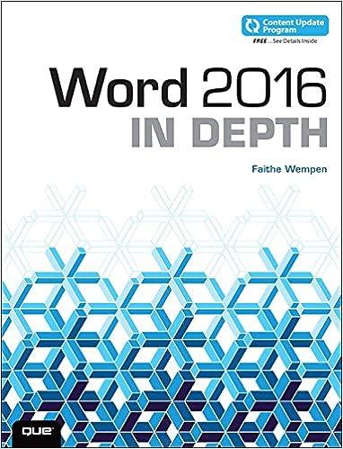 Word 2016 In Depth (Includes Content Update Program): Faithe