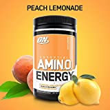 OPTIMUM NUTRITION ESSENTIAL AMINO ENERGY, Peach Lemonade, Preworkout and Essential Amino Acids with Green Tea and Green Coffee Extract, 30 Servings