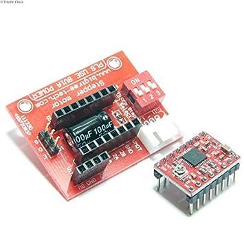 Controlador de motor paso A4988 con rojo PCB 3D controlador de ...