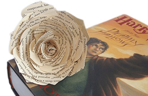 Book page paper flower