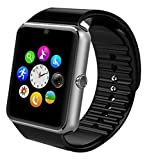 SEPVER Smart Watch GT08 Bluetooth with TF Memory Card and SIM Card Slot for Android Samsung S5 S6 Note 4 5 HTC Sony LG and iPhone 7 5 5S 6 6 Plus 6s 6s Plus Smartphones (Silver)