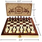 """ASNEY Upgraded Magnetic Chess Set, 12"""" x"""