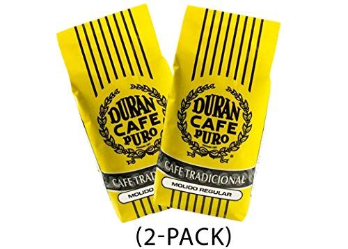 Cafe Duran'Cafe Tradicional' Best Panama Coffee - Regular Ground 1 Pound/425g Freshly Imported. (Two Pack)