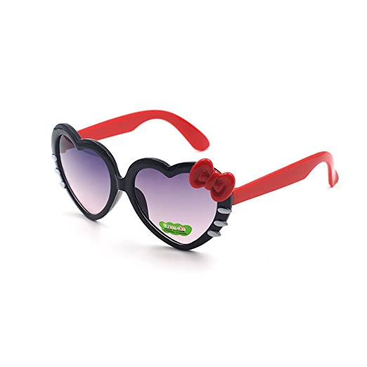 48925de6c8f Xinmade Heart Various Kids UV400 Sunglasses for Boys and Girls Age 3-10  (Black